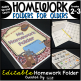 Homework Folder for Olders Editable - Western Theme {Giddy