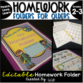 Homework Folder for Olders Editable - Peace Theme {Peace,