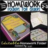 Homework Folder for Olders Editable - Peace Theme {Peace,