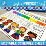 Editable Schedule Sheet