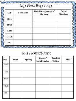Homework Folders {First Quarter 4th Grade Math & ELA}