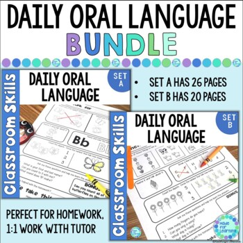 Homework BUNDLE Parent Involvement, Language Development, Letters, Numbers