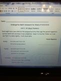Homework For Numbers 1-10 Week 3