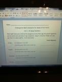 Homework For Numbers 1-10 Week 4