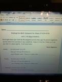 Homework For Numbers 1-10 Week 5