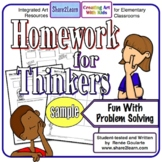Homework For Thinkers Problem-Solving Printables FREE SAMPLE