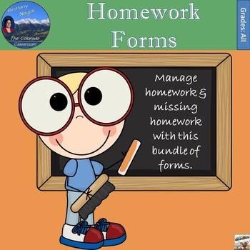 Homework Forms - Manage Homework & Missing Homework