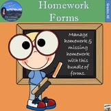 Homework Forms - Manage Homework and Missing Homework
