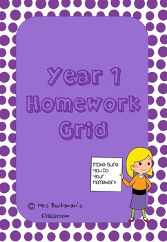 Homework Grid Year 1