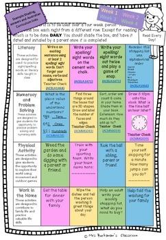 Homework Grid Year 2