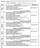 Homework Guide - Spanish and English