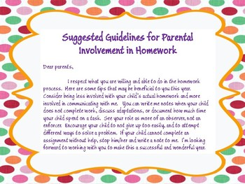 Homework Guidelines