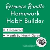 Homework Habits Bundle: 4 Resources + Month by Month Plan