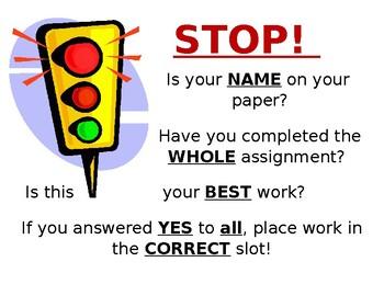 Homework Hand-in Label