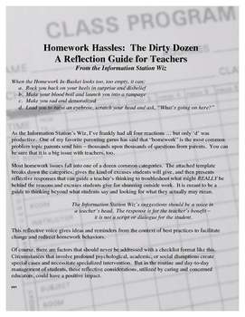 Homework Hassles: Tackle the Dirty Dozen