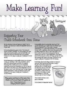 Homework Help Handout for Parents