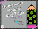 Homework Helper Bag Tags