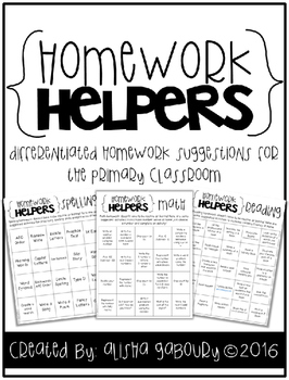 Homework Helpers Freebie {Reading, Math, and Spelling}