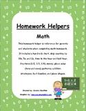 Homework Helpers - Math