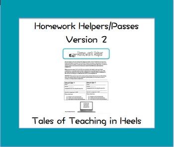 Homework Helpers/Passes-Version 2