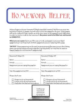 Homework Helpers/Passes