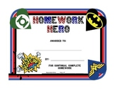 Homework Hero Award