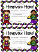 Superhero Homework Awards