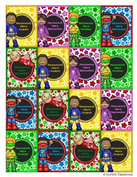 Superhero  Brag Tags Freebie