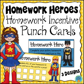 Homework Incentive Punch Cards