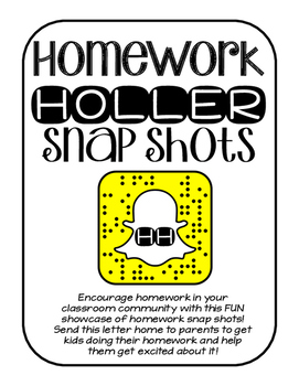 Homework Holler Snap Shots