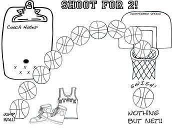 Homework Hoops! Open-ended basketball theme homework sheets