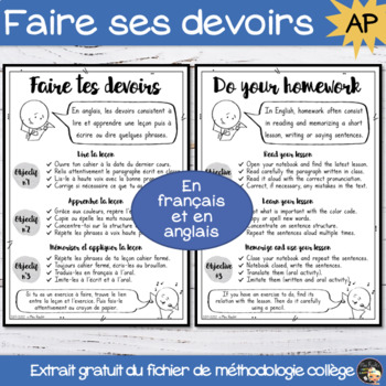 Working Methods - How to do your Homework - Freebie Sample