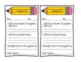 Homework IOU Form