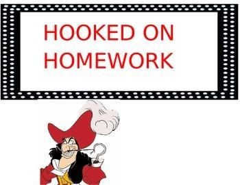 Homework Incentive- Hooked on Homework