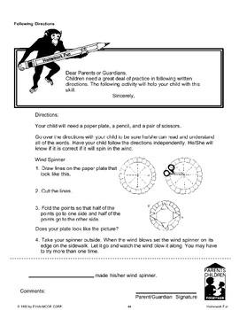 Homework: Interview & Report, Spelling, Following Directions