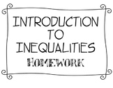 Introduction to Inequalities Homework