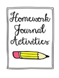 Homework Journal Activities