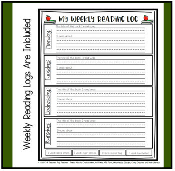 Primary Homework Packet for the Year ~ Journals, Reading Logs & Spelling Pages