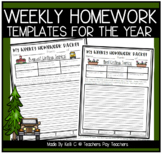 Primary Homework Packet for the Year ~ Journals, Reading L