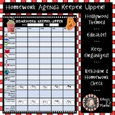"Hollywood/Movie Theme ""Editable Homework Keeper-Upper and"