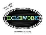 Homework Label {FREEBIE}