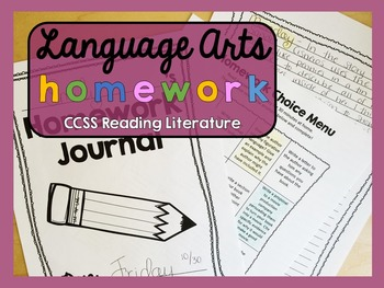 Homework - Reading Literature - Language Arts