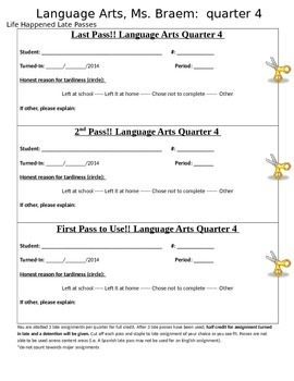 Homework Late Pass