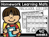 Homework Learning Mats: Preschool Edition