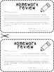 Homework Letter