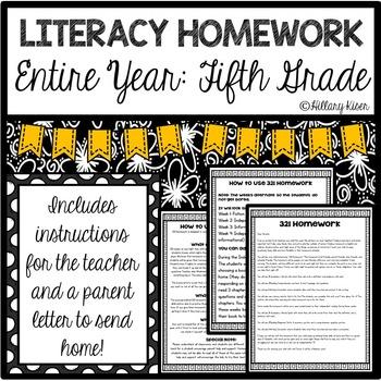 Homework (Literacy 5th Grade-Entire Year)