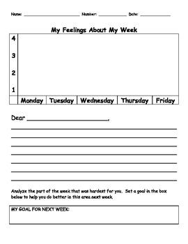 Homework Log Behavior Chart