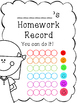 Homework Log/ Homework Cover Page