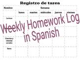 Homework Log In Spanish