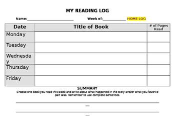 Homework Logs *EDITABLE*